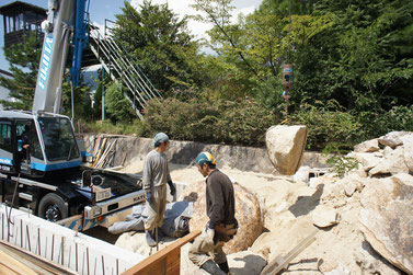 ・ 建築基礎工事の造成時に地中から発生した石