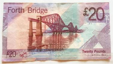 写真4 日本人技師が描かれている20ポンド紙幣