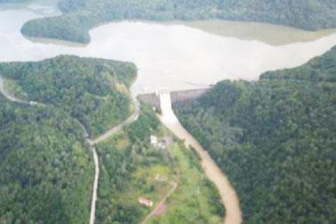 金山ダムの貯水状況(平成28年8月31日撮影)