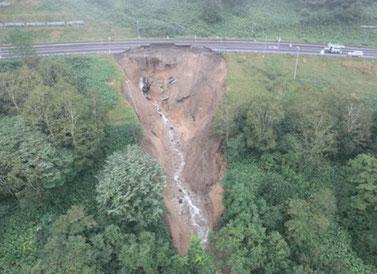 国道38号狩勝峠の被害状況