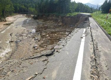 国道274号の被災状況