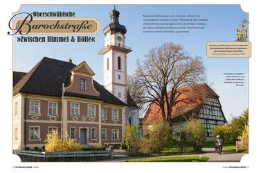 Dreieinigkeit: Stadtpfarrkirche, Pfarrhaus und Zehntscheuer bilden in Laupheim ein pittoreskes Ensemble.