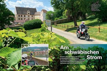 Abgehoben: Hoch über dem Neckartal thront das »Hotel Schloss Weitenburg« in Starzach (gr. Foto). Heidelberger Blick auf »Alte Brücke« und Schloss.