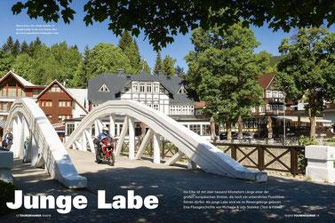Wahrzeichen: Die »Weiße Brücke« in Spindlermühle ist die erste Brücke über den noch jugendlichen Gebirgsfluss Labe.