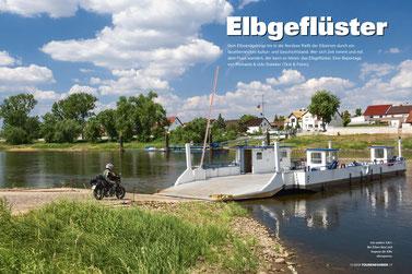 Ans andere Ufer: Bei Elster lässt sich bequem die Elbe überqueren.