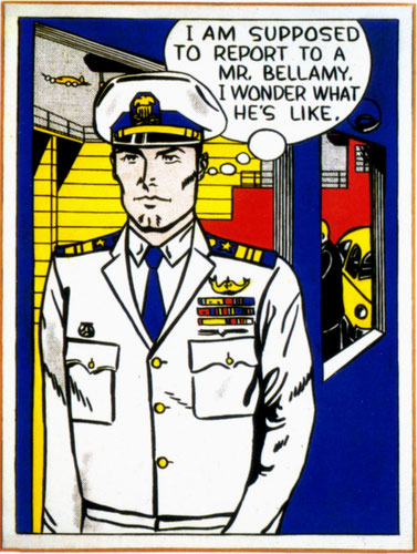 Roy Lichtenstein.Mr Bellamy 1961.Óleo sobre lienzo.144x108cm.Colection of Modern Art Museum of Fort Worth.Mexico.