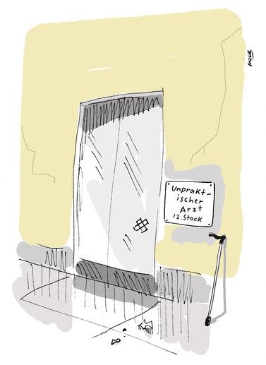 Cartoon von Mock zum Thema Medizin