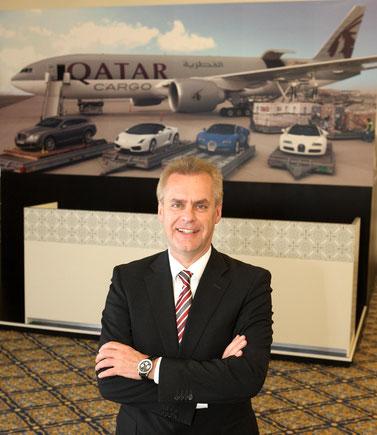 Uli Ogiermann heads Qatar Cargo since November 2012. / source: QR Cargo