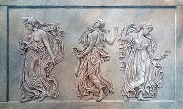 Allegories, Mural by Irma Fiorentini - Fiorentini Design, Classical Murals, Wallpaper Borders
