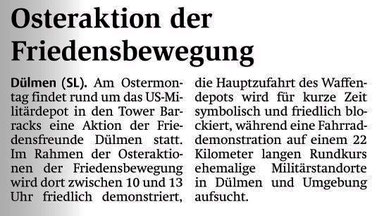 Streiflichter Dülmen vom 28.03.2018