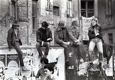 Tom Ordelman (Thor NL) - Eigenes Werk. Squatters in Berlin, Kreuzberg (1981)