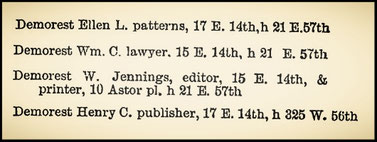 New York Directory 1887