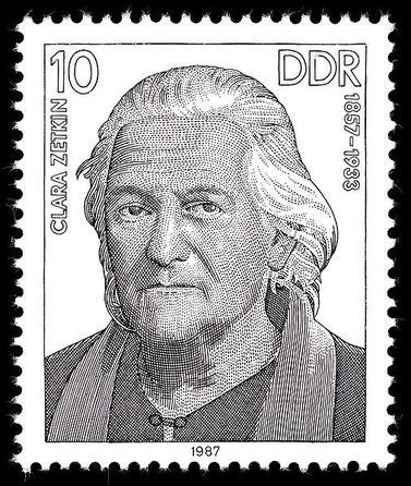 Clara Zetkin, DDR-Briefmarke von 1987