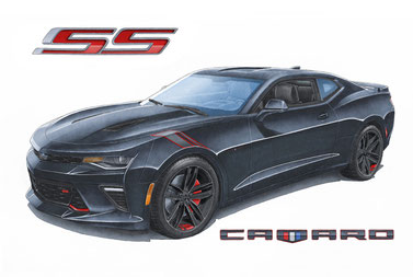 Camaro SS Redline Edition with colors