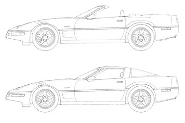 Corvette Grand Sport C4 drawing