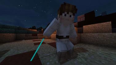 Luke Skywalker with Obi Wans Lightsaber