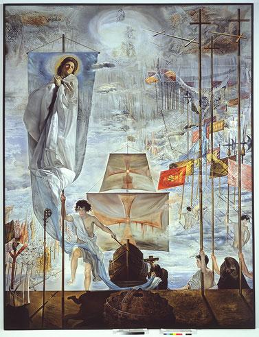 Гала Дали в картинах Сальвадора Дали. Открытие Америки Христофором Колумбом