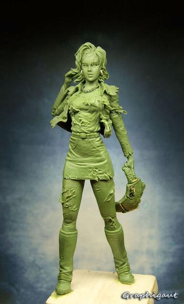 graphigaut, android 18, c18, garage kit, Beesputty, handmade sculpture, dragon ball z