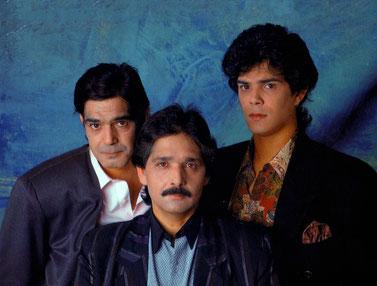 Emilio, Julio y Junior,  ya como nueva formación