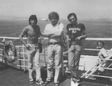 El Jero, El batería Jesús y su hermano el beibi crucero Ceuta 1981