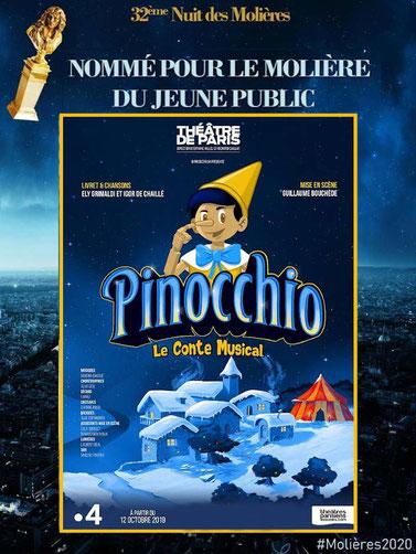 Pinocchio au Théatre de Paris pour spectacle de Noël pour les CSE