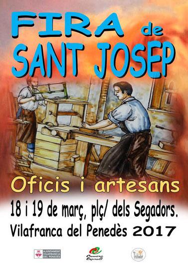 Programa de la Fira de Sant Josep en Vilafranca del Penedes