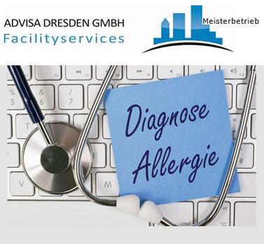 Hilfe für Allergiker. Ein Plakat