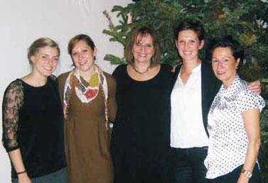 v. l.: Sarah Haurand, Carolin Budweg, Bettina von Bihl, Erika Gretschmann und Elke Weegen-Schmidt