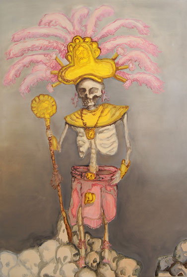 Häuptling, 2012, 180cm x 120cm, Oil on canvas