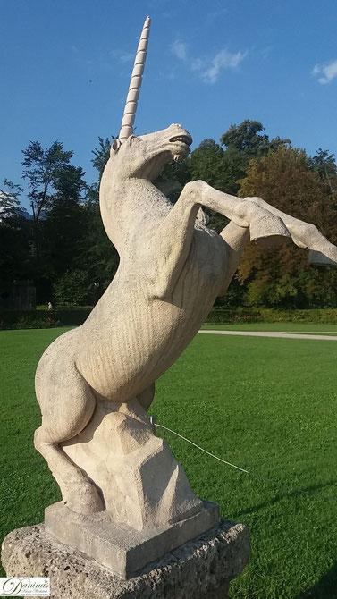 Salzburg Schlosspark Hellbrunn Einhorn