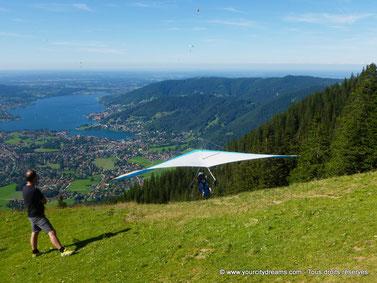 Tourisme en Bavière - Delta plane près de Tegernsee