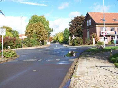Gefahrenpunkt 5: Kreuzung Flethweg / Hornstieg / Rebhuhnstraße