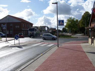 Gefahrenpunkt 4: Kreisverkehr Obstmarschenweg / Flethweg / Alte Chaussee