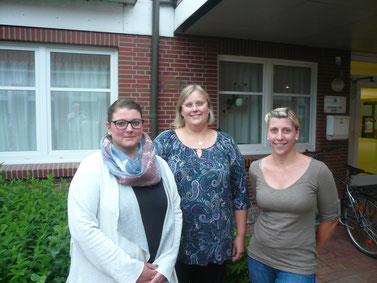 Der aktuelle Vorstand (von links): Pia von der Fecht (2. Vorsitzende) - Ulrike Vollmers (Kassenwartin) - Lisa Stephan (1. Vorsitzende)