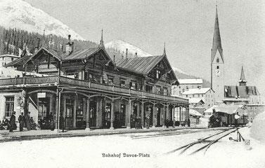 J. Tomaszewski Davos, gestempelt 08. März 1914
