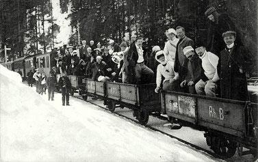 J. Tomazewski Davos, gestempelt 31. August 1908