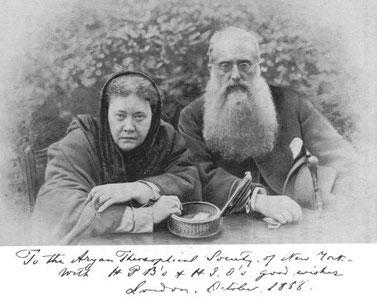 Helena P. Blavatsky und Henry Steel Olcott (Quelle: Wikipedia)