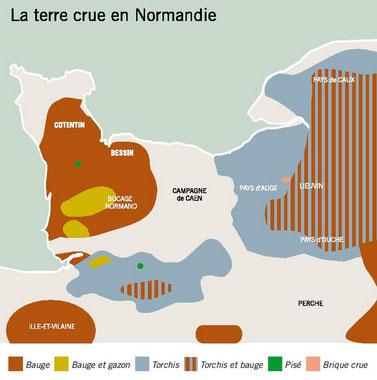 architecture maison terre normandie manche patrimoine carte