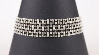 BDSM Halskette Erotik - Kristall Halsband Rubin