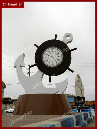 ساعت شهری زیبا و مدرن بهترین المانهای شهری در جهان و ایران نمونه المان شهری بندر دریا ساحل المان شهری زیبا