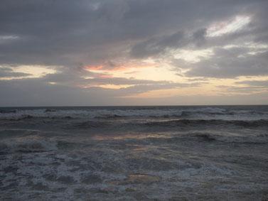 夕方少し風が西寄りになりました。