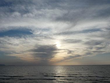 雲が幻想的。