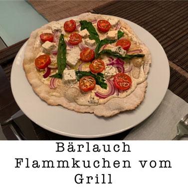 Bärlauch Flammkuchen vom Grill