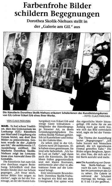 Ausstellung Galerie am GiL, Marl