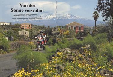 In Paterno, einem der Ätna-Dörfer zu Füßen des Vulkans.