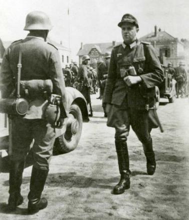 Lieutenant Hermann Lacoste au départ pour l'Auvergne le 5 juin 1944.