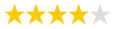 4 Sterne Bewertung für die Systane Balance Augentropfen (Sicca Syndrom)