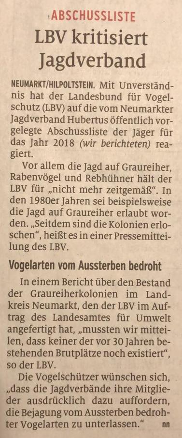Quelle: Fotografie von Hans-Martin Macher. Artikel in den Neumarkter Nachrichten. Ausgabe: 4. Mai 2019.