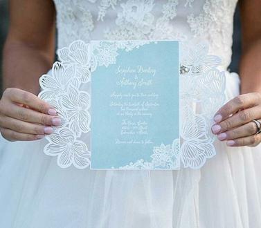 Lasercut Karte, Hochzeitskarte, Einladungskarte, Ukarten