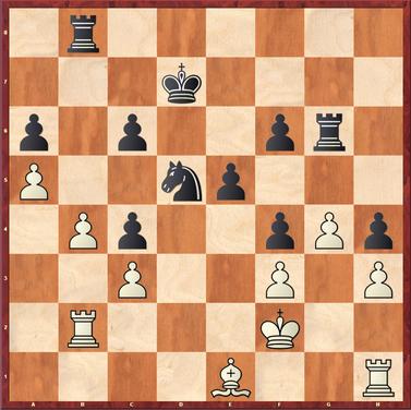 Polten - Roth: Weiß hatte grade 41.a5 gezogen. Schwarz ging hier an seiner letzten Chance vorbei mit 41. ... c5!  ein gewonnenes Endspiel zu erreichen.